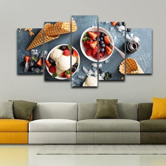 Framed Fruit Wall Art Canvases