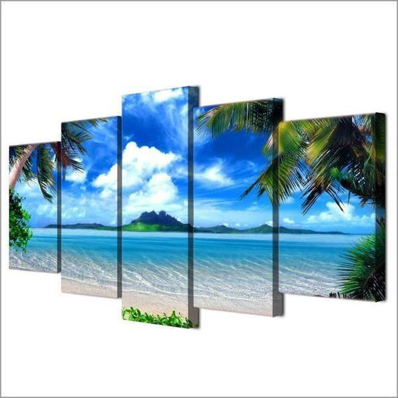 Beautiful Tropical Island Canvas Wall Art