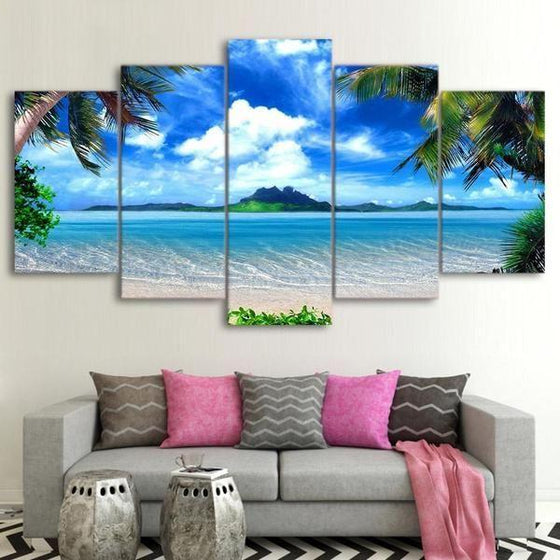 Beautiful Tropical Island Canvas Wall Art Living Room Decor