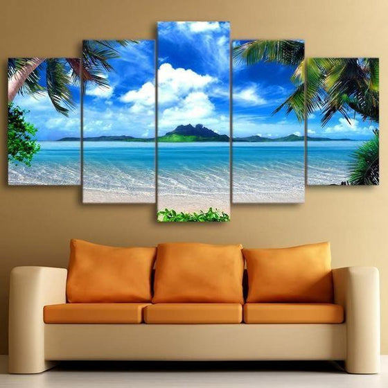 Beautiful Tropical Island Canvas Wall Art Home Decor