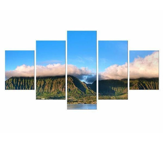 Thick Clouds Over Mountains Canvas Wall Art