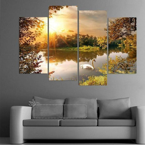 Framed Sunset Wall Art Canvas