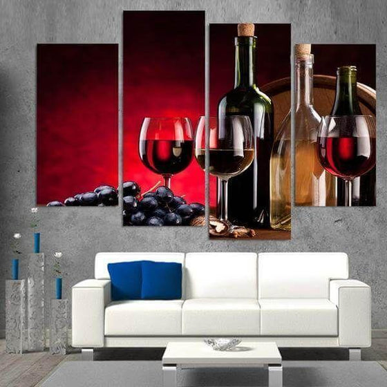 Framed Wall Art Wine Theme