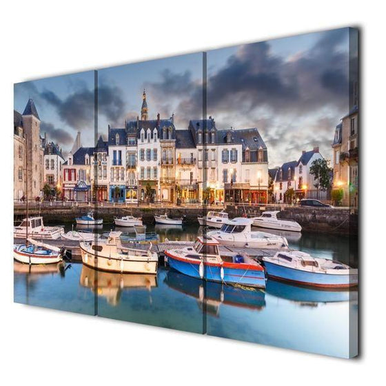 Canal Saint-Martin Canvas Wall Art Prints