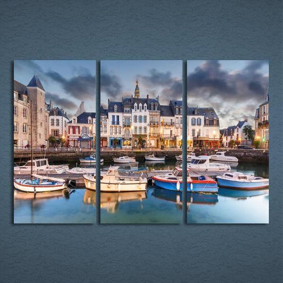 Canal Saint-Martin Canvas Wall Art Decor