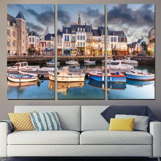 Canal Saint-Martin Canvas Wall Art Living Room