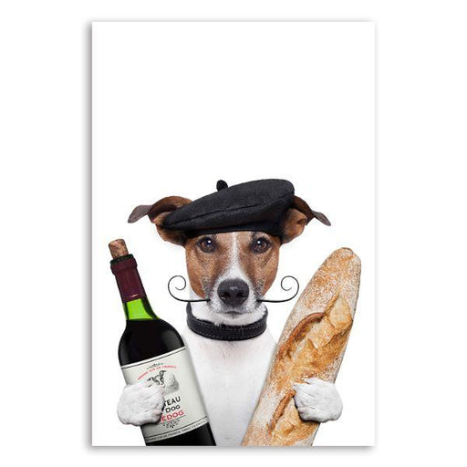French Jack Russell Dog Canvas Wall Art