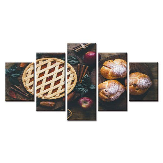 Freshly Baked Apple Pie Canvas Wall Art