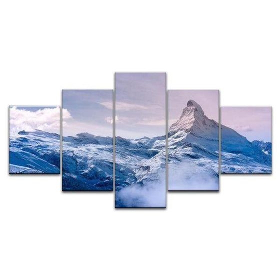 Frozen Mountain Canvas Art