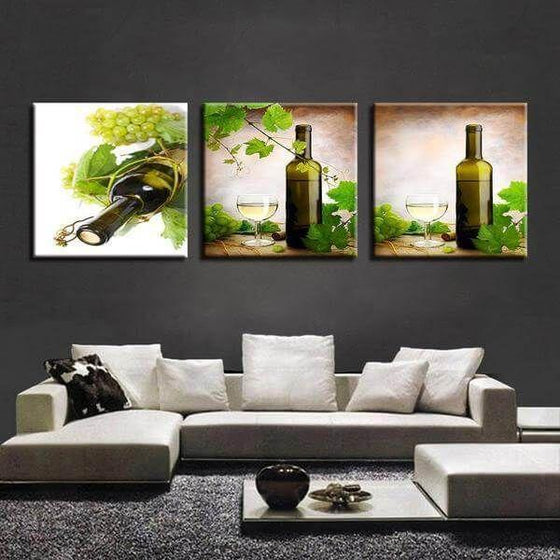 Funny Wine Wall Art Canvases
