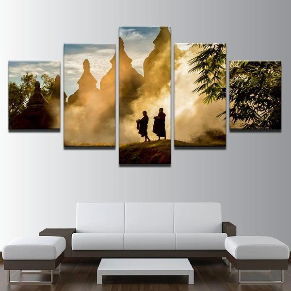 Garden Buddha Wall Art Canvases