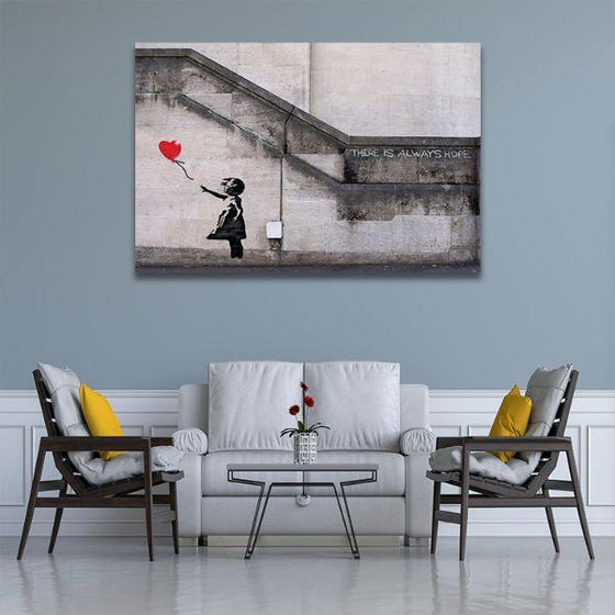 Girl With Balloon By Banksy Canvas Wall Art Decor
