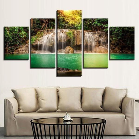 Glass Waterfall Wall Art Decor