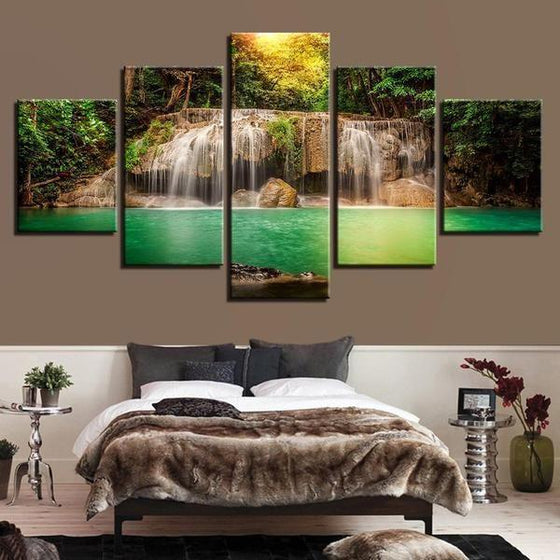 Glass Waterfall Wall Art Decors
