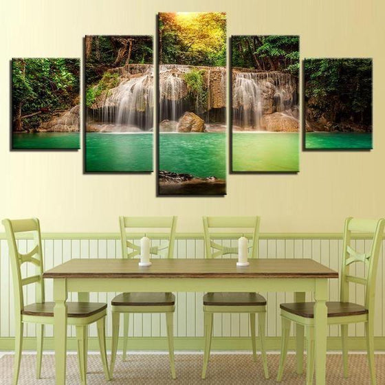 Glass Waterfall Wall Art Print