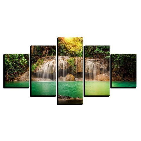 Natural Virgin Waterfalls Canvas Wall Art