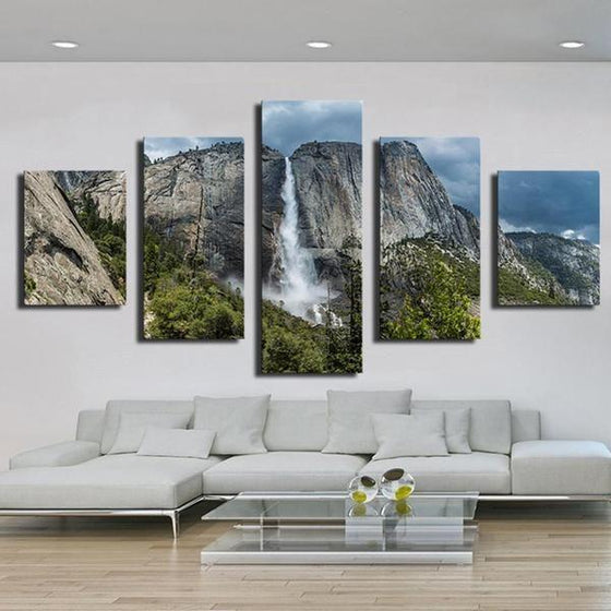 Glass Waterfall Wall Art