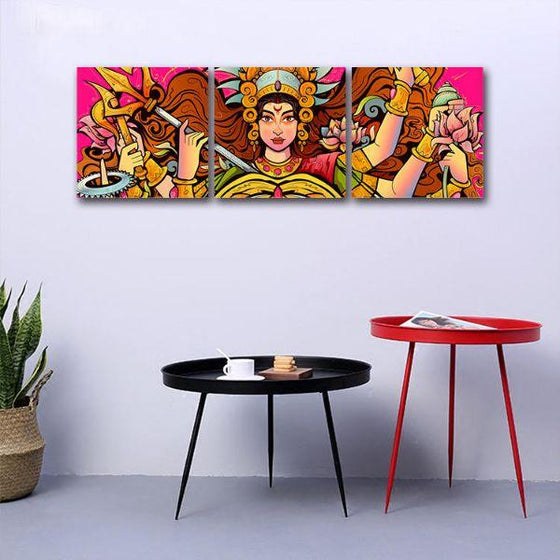 Goddess Durga Canvas Wall Art Office