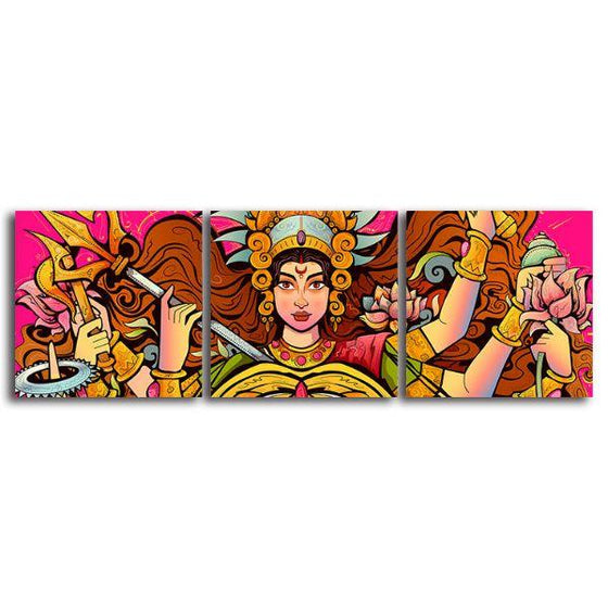 Goddess Durga Canvas Wall Art