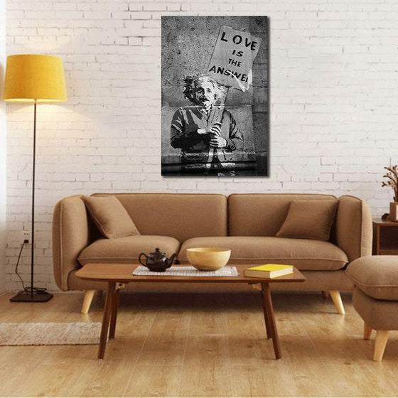 Graffiti Love Is The Answer Canvas Wall Art Living Room