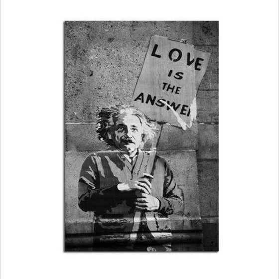 Graffiti Love Is The Answer Canvas Wall Art
