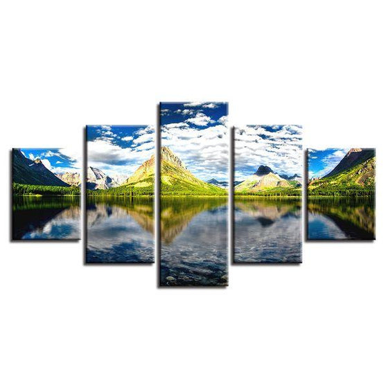 Green Hills View Canvas Wall Art