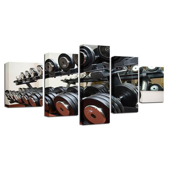 Gym Equipment Dumbbells Wall Art Decor