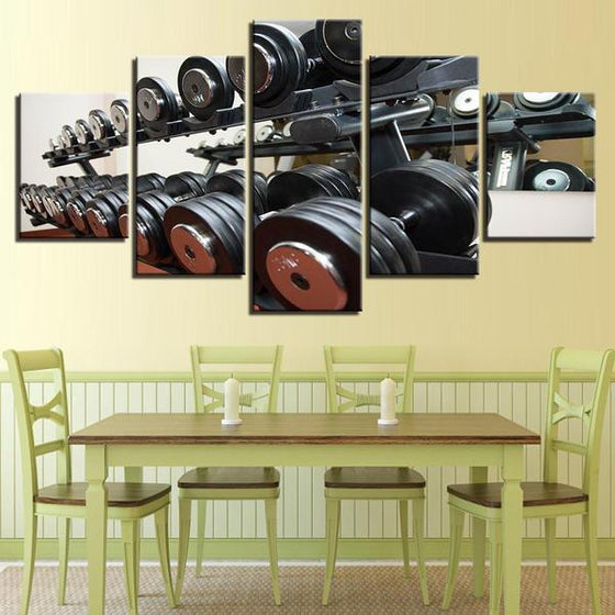 Gym Equipment Dumbbells Wall Art Dining Room