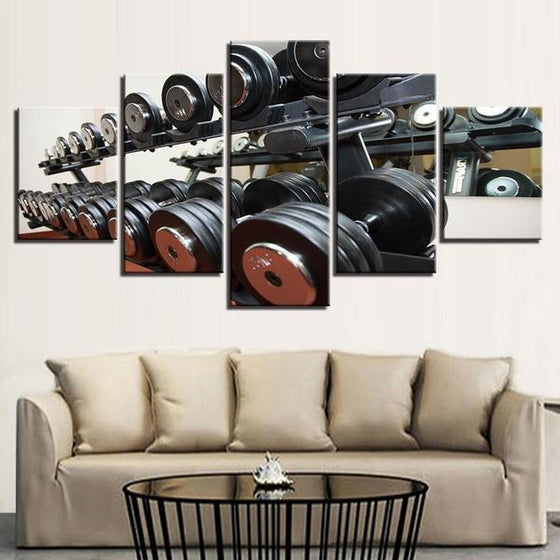 Gym Equipment Dumbbells Wall Art