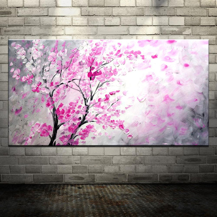 Hand Painted Cherry Blossom Canvas Wall Art