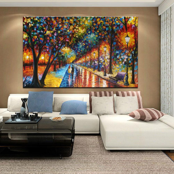 Hand Painted When Dreams Come True by Leonid Afremov Replica Canvas Wall Art