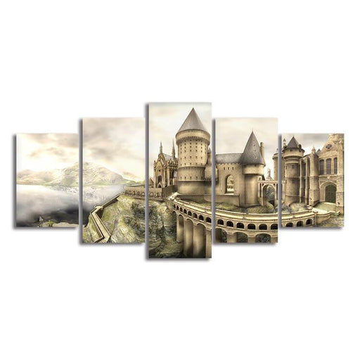 Harry Potter Hogwarts Castle Inspired Canvas Wall Art