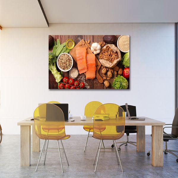 Heart Healthy Foods Canvas Art