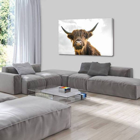 Highland Cattle Canvas Wall Art Living Room
