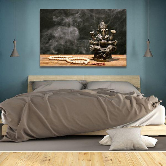 Hindu Elephant God Ganesh Canvas Wall Art Bedroom