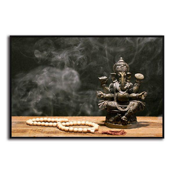 Hindu Elephant God Ganesh Canvas Wall Art Decor