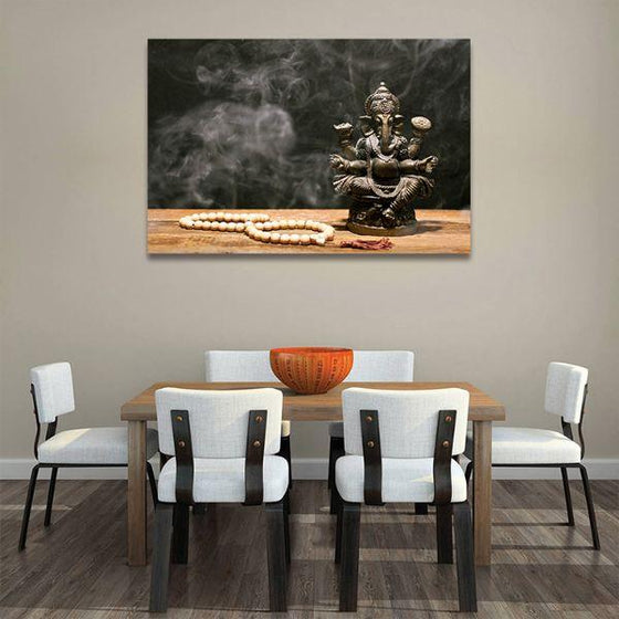 Hindu Elephant God Ganesh Canvas Wall Art Dining Room