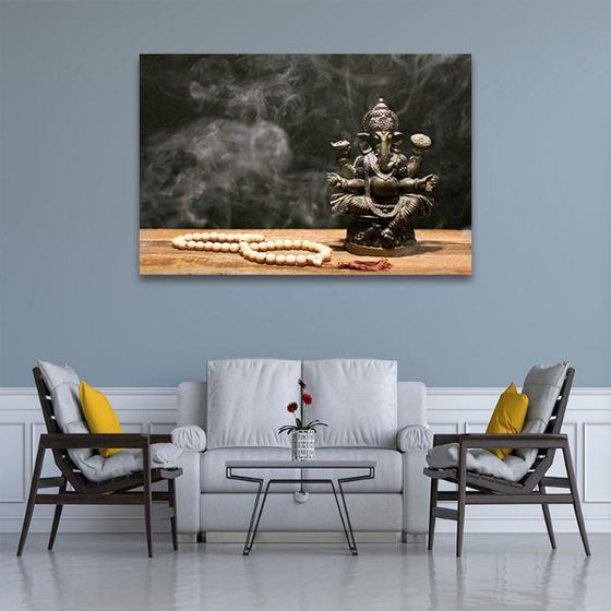 Hindu Elephant God Ganesh Canvas Wall Art Living Room