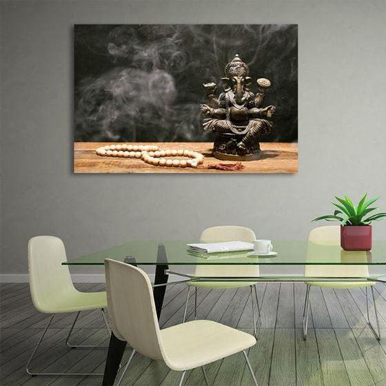 Hindu Elephant God Ganesh Canvas Wall Art Office