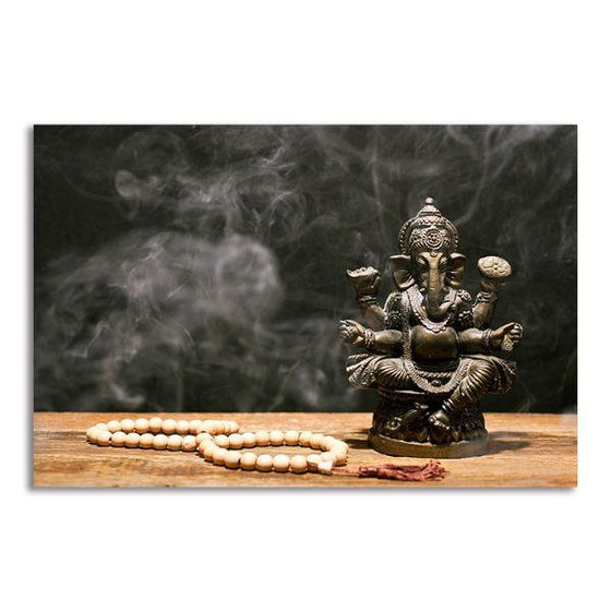 Hindu Elephant God Ganesh Canvas Wall Art