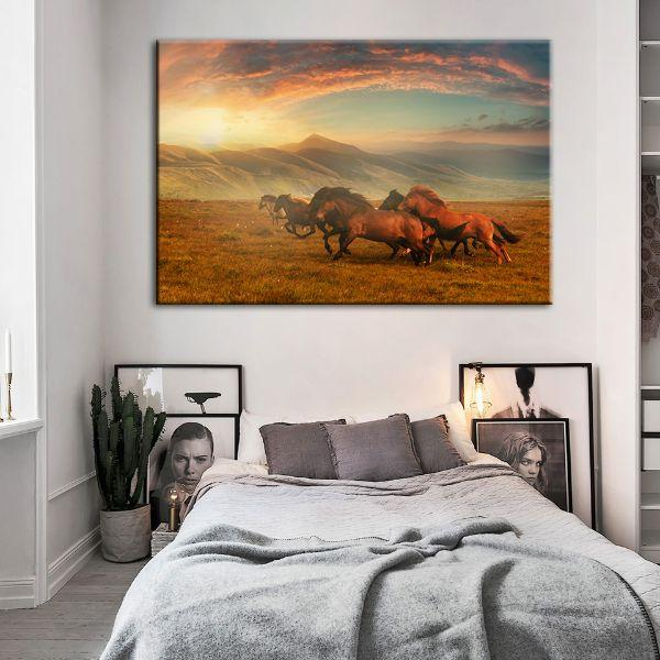 Horses At Assy Plateau Canvas Wall Art Bedroom