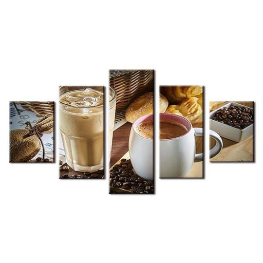 Hot And Cold Coffee Canvas Wall Art