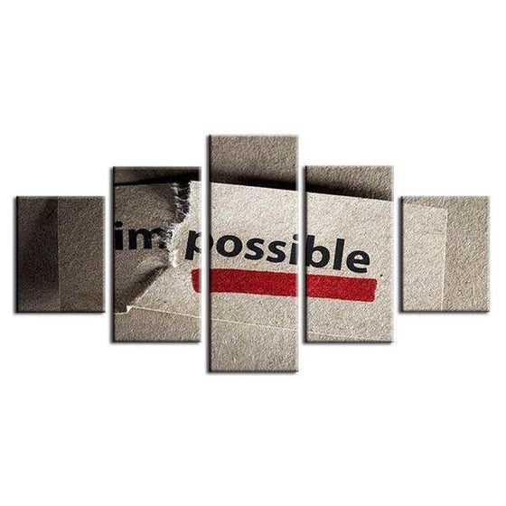 I'm Possible Motivation Canvas Wall Art