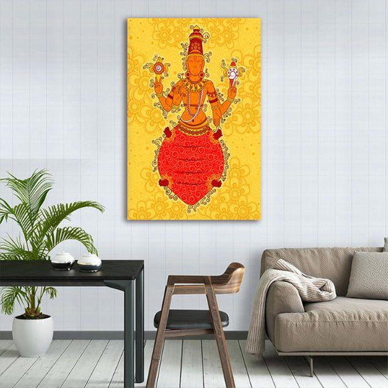 Indian God Kurma Canvas Wall Art Decor
