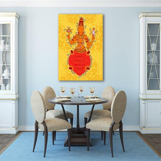 Indian God Kurma Canvas Wall Art Kitchen