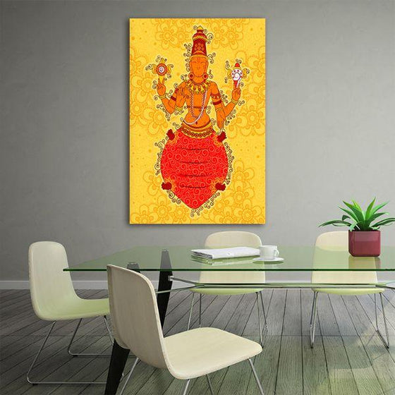 Indian God Kurma Canvas Wall Art Office