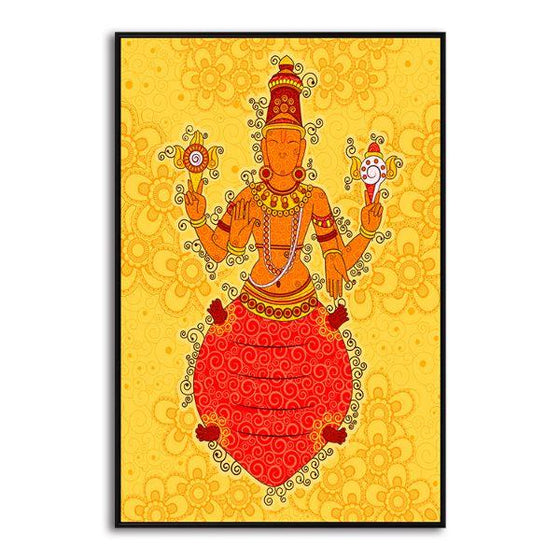 Indian God Kurma Canvas Wall Art Print
