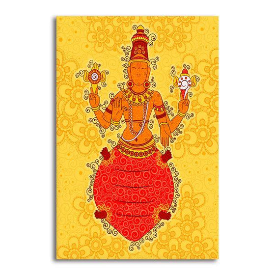 Indian God Kurma Canvas Wall Art