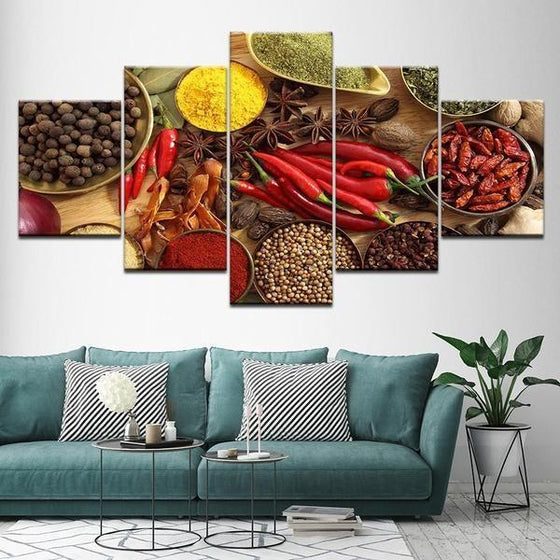Indian Spice Wall Art Canvas