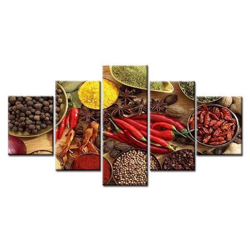Indian Spices Canvas Wall Art